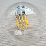 Dimmable 유리제 지구 Edison 전구 G80 G95 G125 필라멘트 LED 유리제 전구