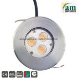 9W à LED feux de pont d'éclairage souterrain éclaireur de sol IP67
