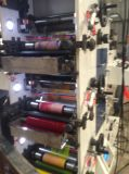 Máquina de impressão de Flexo com a fábrica cortando giratória da estação