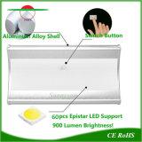 Nachladbare angeschaltene im Freienwand-Licht-wasserdichte Solarlampe des Garten-60LEDs