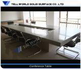 Tabella di congresso di superficie solida acrilica moderna della persona dello scrittorio 10 di riunione per le forniture di ufficio