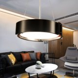 Broad Modern Round Circle Industrial Decorative During Lamp