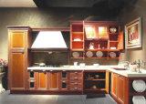 Module de cuisine en bois de contre-plaqué bon marché de vente en gros d'usine de la Chine
