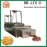 Alimento automático Heated do gás que frita a máquina