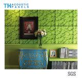 Panneau de mur acoustique de polyester d'Eco de l'épreuve 3D saine décorative intérieure amicale de fibre