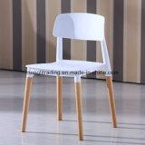 Рр пластиковый обеденный стул с бука деревянной ногой