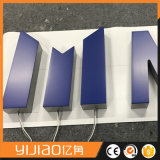A resina feita sob encomenda acrílica de Frontlit iluminada rotula o sinal acrílico do diodo emissor de luz