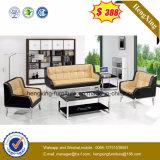 Mobilier de bureau moderne Cuir Métal Receptional canapé d'angle de coupe (HX-CS013)
