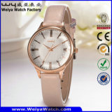 Wristwatch повелительниц кварца кожаный планки ODM горячий продавая (Wy-098C)