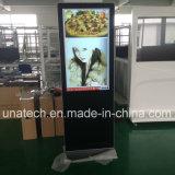 pantalla de doble cara LCD del doble del quiosco del soporte del suelo 65/74inch que hace publicidad de la pantalla de visualización