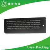 Escritura de la etiqueta del boleto del oscilación/surtidor plásticos de papel de la etiqueta de la caída del Hangtag/