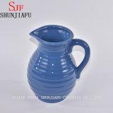 De blauwe Ceramische Uitstekende Vaas van de Bloem van de Stijl/de Decoratieve Houder van het Boeket