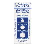 Etiqueta autoadhesiva terma del indicador de tiempo-temperatura de Warmmark del encadenamiento frío