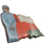 창조적인 기념품 선물 (XDBG-308)를 위한 디자인에 의하여 인쇄되는 깃발 접어젖힌 옷깃 핀
