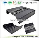 Dissipador de calor em alumínio de extrusão anodizado preto para amplificador automático