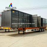 반 2개의 3개의 차축 트럭 견인 밴 화물 수송기 상자 트레일러