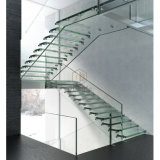 Escaleras rectas de las escaleras de madera de la escalera de la fibra de vidrio