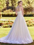 Innamorato A - riga vestito da cerimonia nuziale senza bretelle nuziale del merletto di Tulle di bianco di vestito H18231
