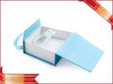Коробки ювелирных изделий кольца способа коробок ювелирных изделий голубой бумаги