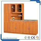 フォーシャンの台所家具6つのドア木カラーPVC食器棚