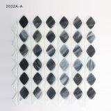 Azulejo de mosaico de cristal colorido blanco y negro para la decoración casera