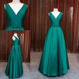 Nach Maß einfache Satin-Form-cyan-blaues Partei-Kleid-Abend-Kleid