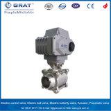 Controle de Fluxo de água em aço inoxidável de 3 Peças do Atuador Elétrico da Válvula de Esfera de 4 polegadas
