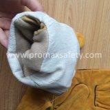 Двойные перчатки работы Welders кожи безопасности ладони