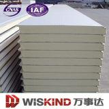 Material de construcción del panel de emparedado del poliuretano para el taller de la estructura de acero