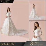 Фабрика Гуанчжоу Китая продает платье оптом венчания с платья венчания сатинировки бутона плеча Silk