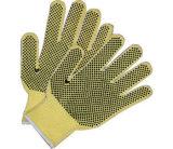 Baumwolle gestrickte Arbeits-Handschuhe mit One-Side Belüftung-Punkten