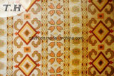 대칭의 패턴으로, 노란 셔닐 실 자카드 직물 소파 피복 (FTH31715)