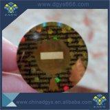 Autoadesivo diContraffazione di obbligazione dell'ologramma di alta qualità con la finestra trasparente