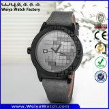 ODMの偶然の革バンドの水晶女性腕時計(Wy-115D)