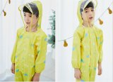 1 a 6 anos de idade as crianças Raincoat Kids Jumpsuit Meninos Meninas Casquilhos inteiriços, Cartoon Raincoat Encapuzados Suit Rainwear coloridos Rompers Bebé