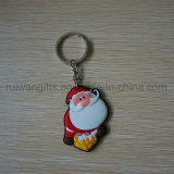 Santa di gomma all'ingrosso Keychain per la decorazione di natale