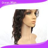 16inch 2017方法白人女性のためのブラジルの直毛のレースの前部かつら