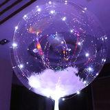 """Воздушный шар Bobo гелия нового украшения 18 рождества """" прозрачный + шнур СИД света"""