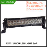 4X4 LED weg von der Straße, die gebogenen LED hellen Stab des LED-hellen Stab-20 des Zoll-CREE fährt