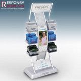 Estante de visualización electrónico del LCD de los accesorios de Gopro de los productos del soporte de visualización de suelo