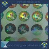 Impressão colorida da etiqueta do holograma autoadesivo da etiqueta