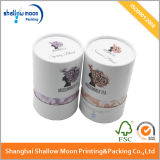 Caja de embalaje del tubo de Fuschia del papel redondo del regalo (QY150092)