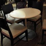 レストランの現代正方形の固体表面の石造りのダイニングテーブルセット
