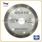 Hoja de sierra circular de sinterizado 105mm *1,3 mm de espesor de la hoja de sierra de diamante
