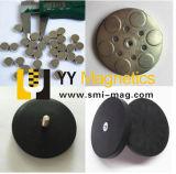 Сильный черный резиновый магнит бака неодимия покрытия