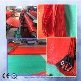 빨간 방수 플라스틱 루핑 덮개 내화성이 있는 트럭 PE 방수포