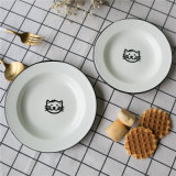 Conjuntos de cena del Enamelware, conjuntos del vajilla, conjunto que acampa del esmalte