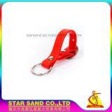 Support respectueux de l'environnement de clé en caoutchouc de silicones, seule chaîne principale de bracelet fait sur commande
