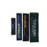 Étiquette tissée par luxe de ventes en gros pour le vêtement, étiquettes tissées Irlande