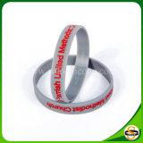 Braccialetto materiale del silicone del silicone puro di 100% con il marchio su ordinazione